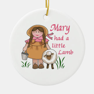 MARY HAD A LITTLE LAMB CHRISTMAS ORNAMENT