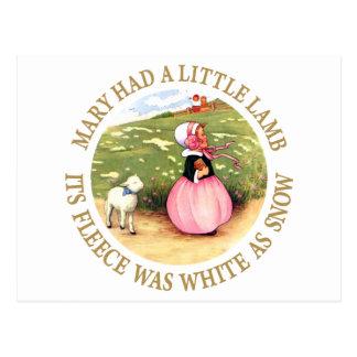 Mary Had a Little Lamb Postcard
