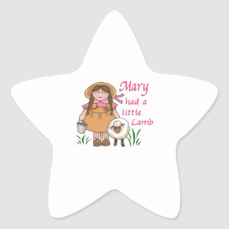 MARY HAD A LITTLE LAMB STAR STICKERS