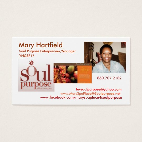 Mary Hartfield  Soul Purpose Business Card