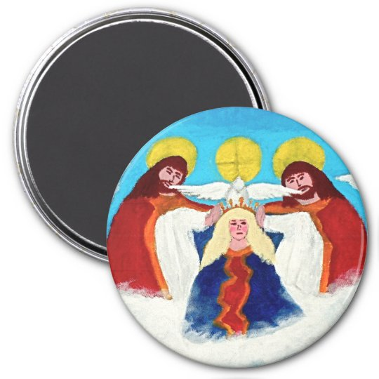 Mary In Heaven 7.5 Cm Round Magnet