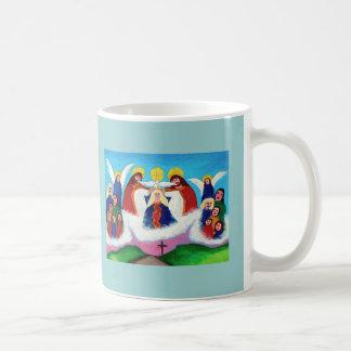 Mary In Heaven Basic White Mug