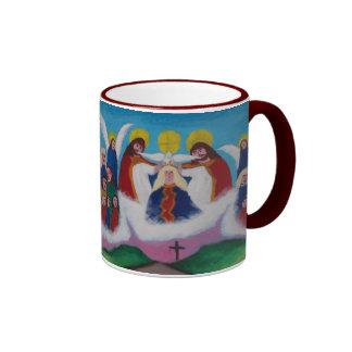 Mary In Heaven (dark) Ringer Mug