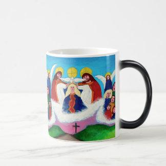 Mary In Heaven Magic Mug