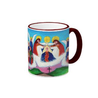 Mary In Heaven Ringer Mug