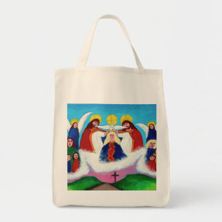 Mary In Heaven Grocery Tote Bag