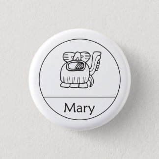Mary in Mayan Button