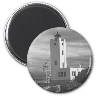 Mary Island Lighthouse 6 Cm Round Magnet