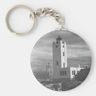 Mary Island Lighthouse Basic Round Button Key Ring