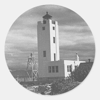 Mary Island Lighthouse Round Sticker