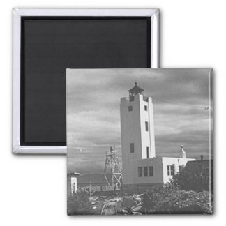 Mary Island Lighthouse Square Magnet