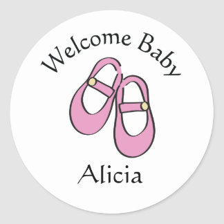 Mary Janes Baby Shower Stickers