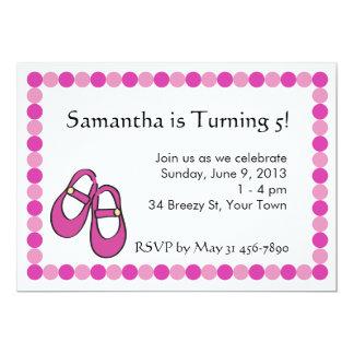 Mary Janes  Birthday Party Invitation