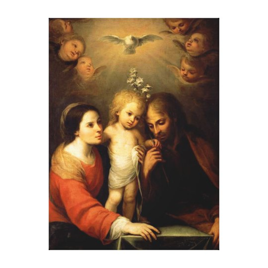 Mary, Jesus, and Joseph Canvas Print
