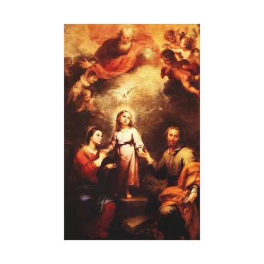 Mary, Jesus, & Joseph 2 Canvas Print