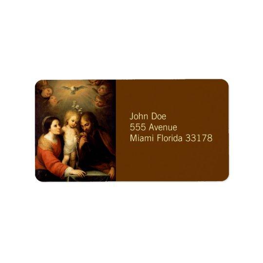Mary, Jesus, & Joseph Avery Label