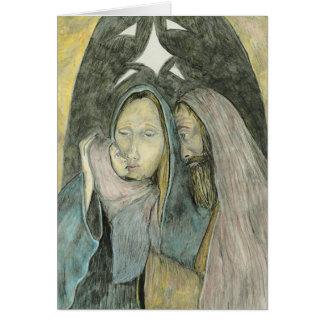 Mary Joseph And Baby Jesus Religious Christmas Greeting Card