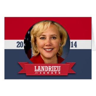 MARY LANDRIEU CAMPAIGN CARDS