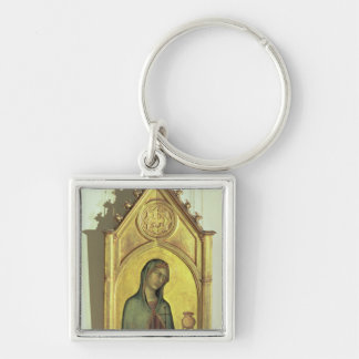 Mary Magdalen, c.1320 Silver-Colored Square Key Ring