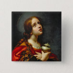 Mary Magdalene, 1660-70 (oil on canvas) 15 Cm Square Badge