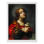Mary Magdalene, 1660-70 (oil on canvas) Poster