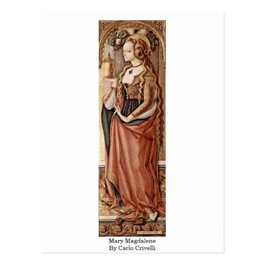 Mary Magdalene. By Carlo Crivelli Postcard