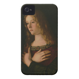 Mary Magdalene, detail from the Virgin and Child w iPhone 4 Covers