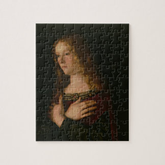 Mary Magdalene, detail from the Virgin and Child w Jigsaw Puzzle
