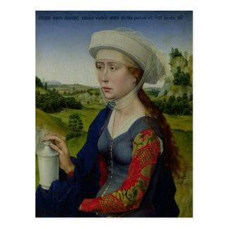 Mary Magdalene, from the right hand panel Postcard