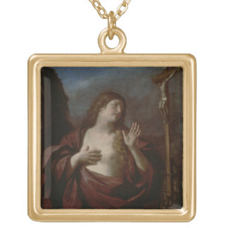 Mary Magdalene in Penitence (oil on canvas) 2 Pendants