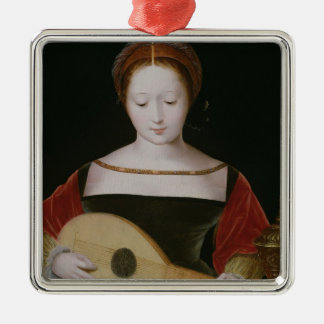Mary Magdalene Playing a Lute Christmas Ornament