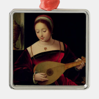 Mary Magdalene Playing the Lute Christmas Ornament
