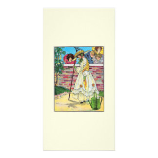 Mary Mary quite contrary Picture Card