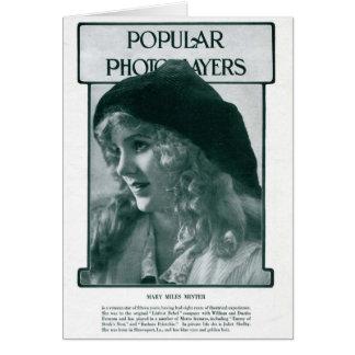 Mary Miles Mintor 1916 vintage portrait card