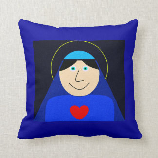 Mary, Mother of God Throw Pillow