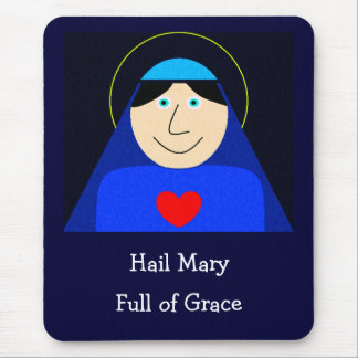 Mary Mother of God Mouse Mat