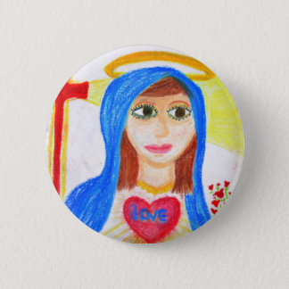 Mary, Mother of Love 6 Cm Round Badge
