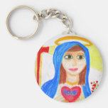 Mary, Mother of Love Keychain