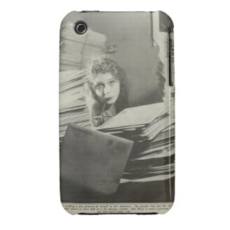 Mary Pickford 1917 portrait with fan mail iPhone 3 Covers