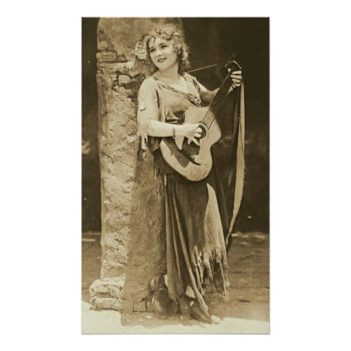 Mary Pickford and Guitar Posters