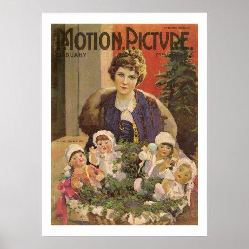 Mary Pickford Christmas Movie Magazine Cover Print