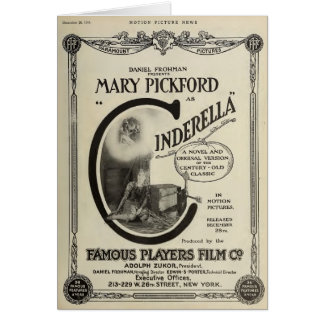 Mary Pickford Cinderella 1914 silent film ad Greeting Card
