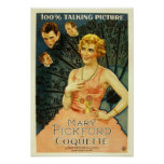 Mary Pickford 'Coquette' 1929 movie poster