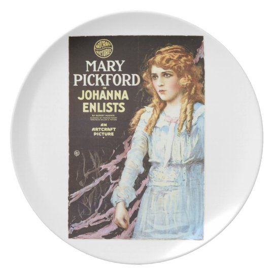 Mary Pickford Johanna Enlists 1918 movie poster Plate