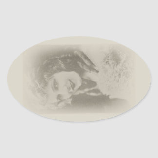 Mary Pickford, Silent Film Actress in Antique Sticker