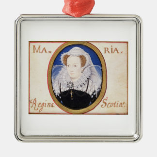 Mary Queen of Scots (1542-87) (gouache on vellum) Silver-Colored Square Decoration
