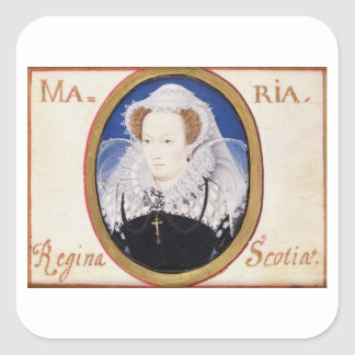 Mary Queen of Scots (1542-87) (gouache on vellum) Square Sticker