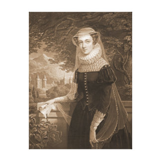 Mary Queen of Scots 1852 Canvas Prints