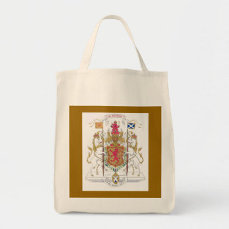 MARY QUEEN OF SCOTS COURT OF ARMS GROCERY TOTE BAG