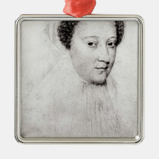 Mary, Queen of Scots  in white mourning, 1560 Christmas Ornament